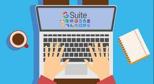 G-Suite on laptop